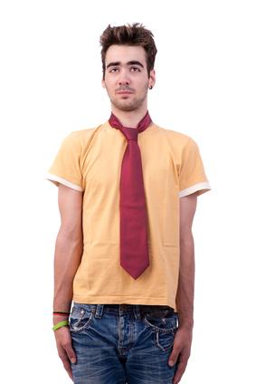 T-Shirt unfd Krawatte?