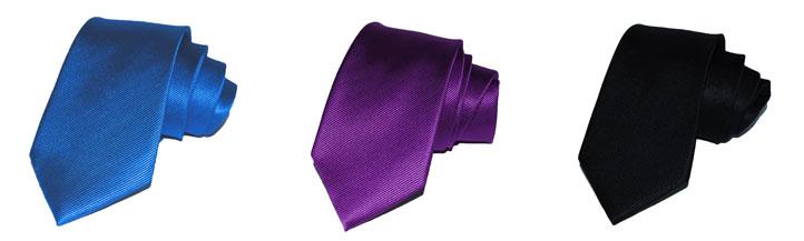 Einfarbige Krawatten aus unserem Shop
