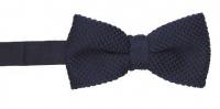 Strickschleife - Marineblau - vorgebunden