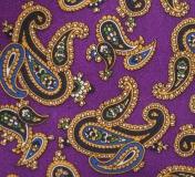 Einstecktuch - 100% Seide - Purple mit großem Paisley