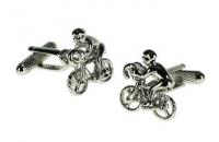 Manschettenknöpfe - Rennradfahrer