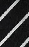 Schleife - Schwarz mit weißen Streifen - Selbstbinder
