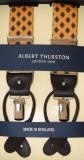 Hosenträger - Albert Thurston - Gelb mit Muster - 2 in 1