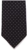 Krawatte - Weiße Tupfen auf schwarzem Grund