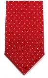 Krawatte - Weiße Tupfen auf rotem Grund