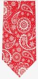 Krawatte - Weißes Muster auf rotem Grund