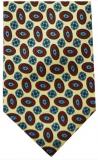 Krawatte - Muster auf hellgelbem Grund