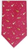Krawatte - Musiksymbole auf weinrotem Grund