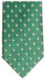 Krawatte - Segelboote auf grünem Grund