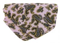 Krawattenschal - 100% Seide - Paisleymuster auf pinkem Grund