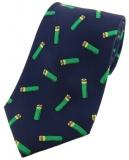 Krawatte mit Jagdmotiv - Schrotpatronen auf marine Grund