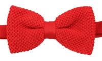 Strickschleife - Rot - vorgebunden