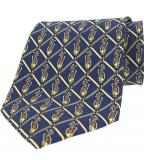 Krawatte - Golfbags auf marineblauem Grund