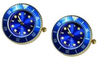 Manschettenknöpfe - Blaue Uhr