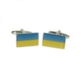 Manschettenknöpfe - Ukraineflagge