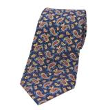 Krawatte - Paisley auf marineblauem Grund