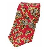 Krawatte - Paisleymuster auf rotem Grund