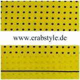 Einstecktuch - 100% Seide - Schwarze Punkte auf gelbem Grund