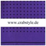 Einstecktuch - 100% Seide - Schwarze Punkte auf purple Grund