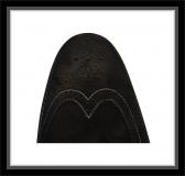 Schuhe - BARKER - Black Waxy Suede - Full Brogue