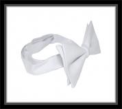 Frackschleife - Weiß - 100% Baumwolle - vorgebunden