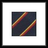Krawatte - Clubstreifen - Marineblau/Goldgelb/Rot 2