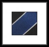 Krawatte - Clubstreifen - Schwarz/Silbergrau/Blau