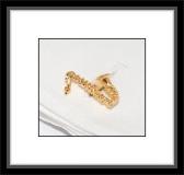 Manschettenknöpfe - Saxophon/goldfarben
