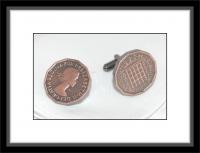Manschettenknöpfe - Three Pence