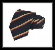 Krawatte - Clubstreifen - Marineblau/Silber/Goldgelb/Rot