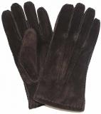 Handschuhe - 100% Veloursleder - Braun