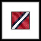 Krawatte - Clubstreifen - Rot/Marineblau/Weiß