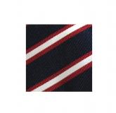 Krawatte - Clubstreifen - Marineblau/Rot/Weiß