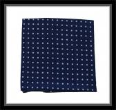 Einstecktuch - 100% Seide - Blau mit lilanen Punkten