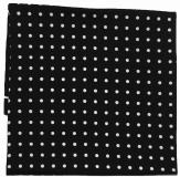 Einstecktuch - 100% Seide - Schwarz mit weißen Punkten