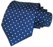 Krawatte - Blau mit hellgelben Punkten