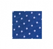 Krawatte - Blau mit lilanen Punkten