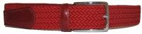 Flechtgürtel - Rot