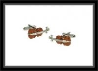 Manschettenknöpfe - Violine/Geige braun