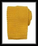 Strickkrawatte - Gelb