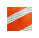 Krawatte - Clubstreifen - Orange/Weiß
