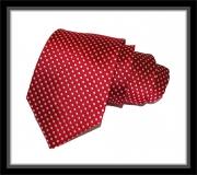 Krawatte - Rot mit weißen Punkten