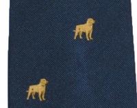 Krawatte mit Jagdmotiv - Marineblau/Golden Retriever
