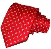 Krawatte - Rot/blau-weiße Paisleytropfen