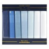 Herrentaschentücher - 100% Baumwolle - weiß/blau