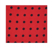 Krawattenschal - 100% Seide - Rot mit blauen Punkten