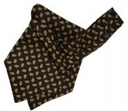 Krawattenschal - 100% Seide - Schwarz mit Paisleyaugen