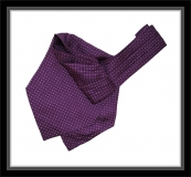 Krawattenschal - 100% Seide - Violett mit lilanen Punkten