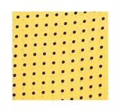 Krawattenschal - 100% Seide - Hellgelb / schwarze Punkte
