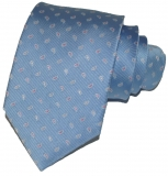 Krawatte - Hellblau mit Paisleytropfen
